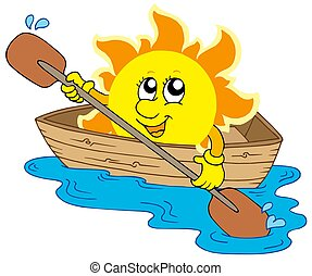 sol, barco