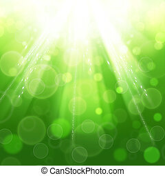 sol, beam., abstrakt, fjäder, och, sommar, bakgrunder