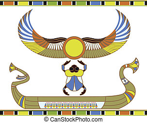 sol, bote, egípcio