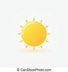 sol, brilhante, logotipo