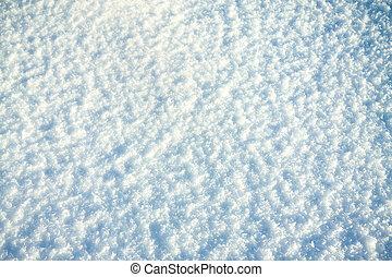 sol, brilhante, neve, fundo