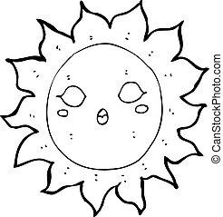 sol, caricatura