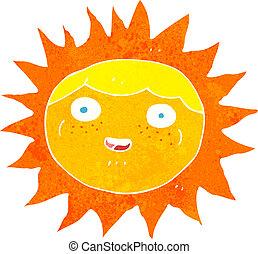 sol, caricatura, personagem