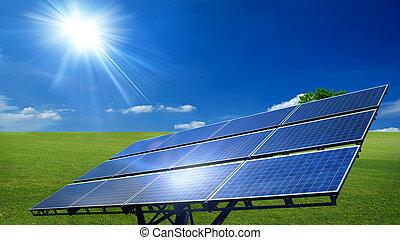 sol cell, paneler