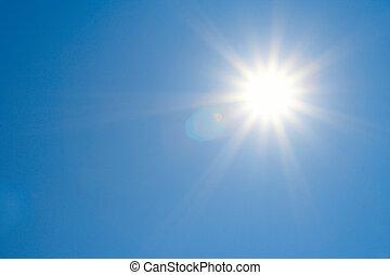 sol, cielo brillante, claro