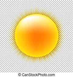 sol, com, transparente, fundo