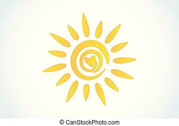 sol, coração