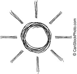 sol, desenho, ilustração