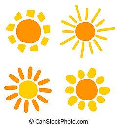 sol, desenhos