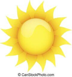sol, fondo blanco, amarillo