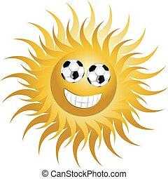 sol, futebol