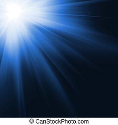 sol, gerado, digitalmente, imagem