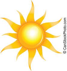 sol, glänsande