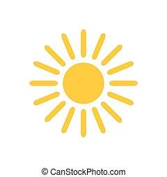 sol, icon., vektor, illustration