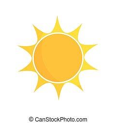 sol, ikon, illustration