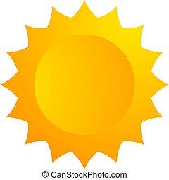 sol, ilustração, ícone