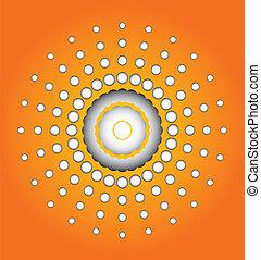 sol, ilustração artística