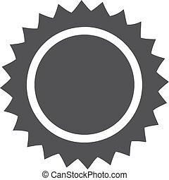 sol, ilustração, experiência., vetorial, pretas, branca, ícone