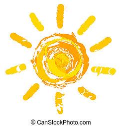 sol, ilustração
