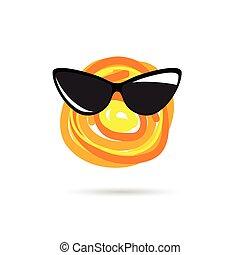 sol, ilustración, icono