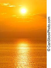 sol, inställning