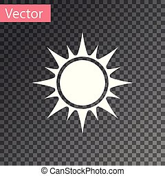 sol, isolado, ilustração, experiência., vetorial, branca, transparente, ícone