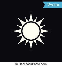 sol, isolado, ilustração, experiência., vetorial, pretas, branca, ícone