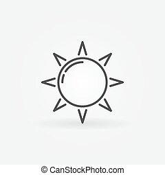 sol, linha, ícone