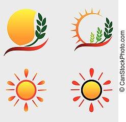 sol, logotipos