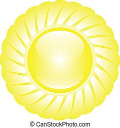 sol, lustroso, amarela