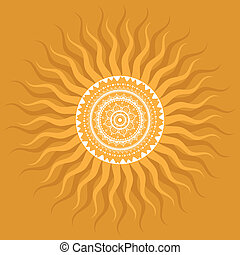 sol, mandala., pattern.