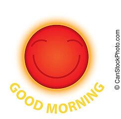 sol, manhã, sorrizo