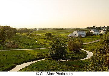 sol, noite, terra cultivada