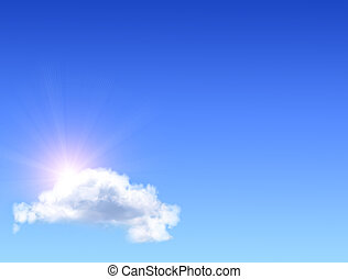 sol, nuvem