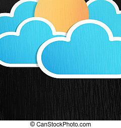 sol, nuvens, fundo