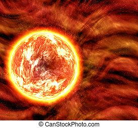 sol, o, lava, planeta