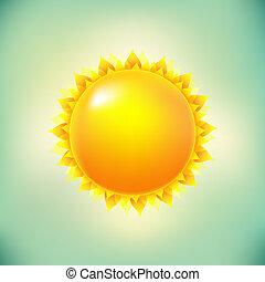 sol, og, vinhøst, baggrund