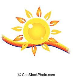 sol, olho, ilustração