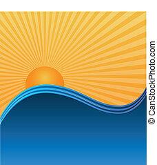 sol, ondas, experiência.