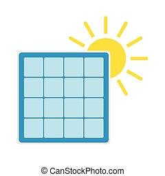 sol, painel, solar, ícone