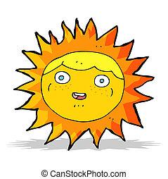 sol, personagem, caricatura