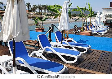 sol, playa, salones, chaise