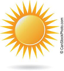 sol, poder, logotipo