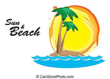 sol, praia