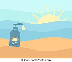 sol, proteja, verão