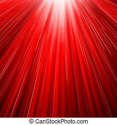 sol, ráfaga, rojo