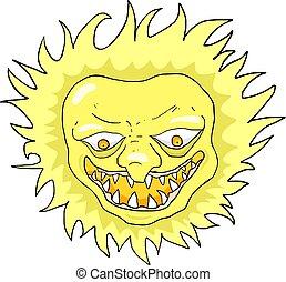 sol, rebelde, ilustração