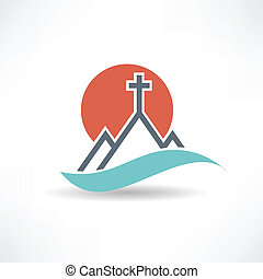 sol, resumen, iglesia, icono