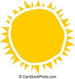 sol, símbolo, desenho