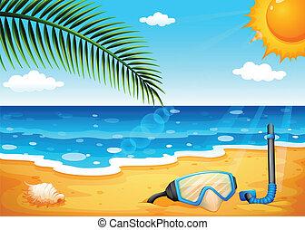 sol, shinning, playa